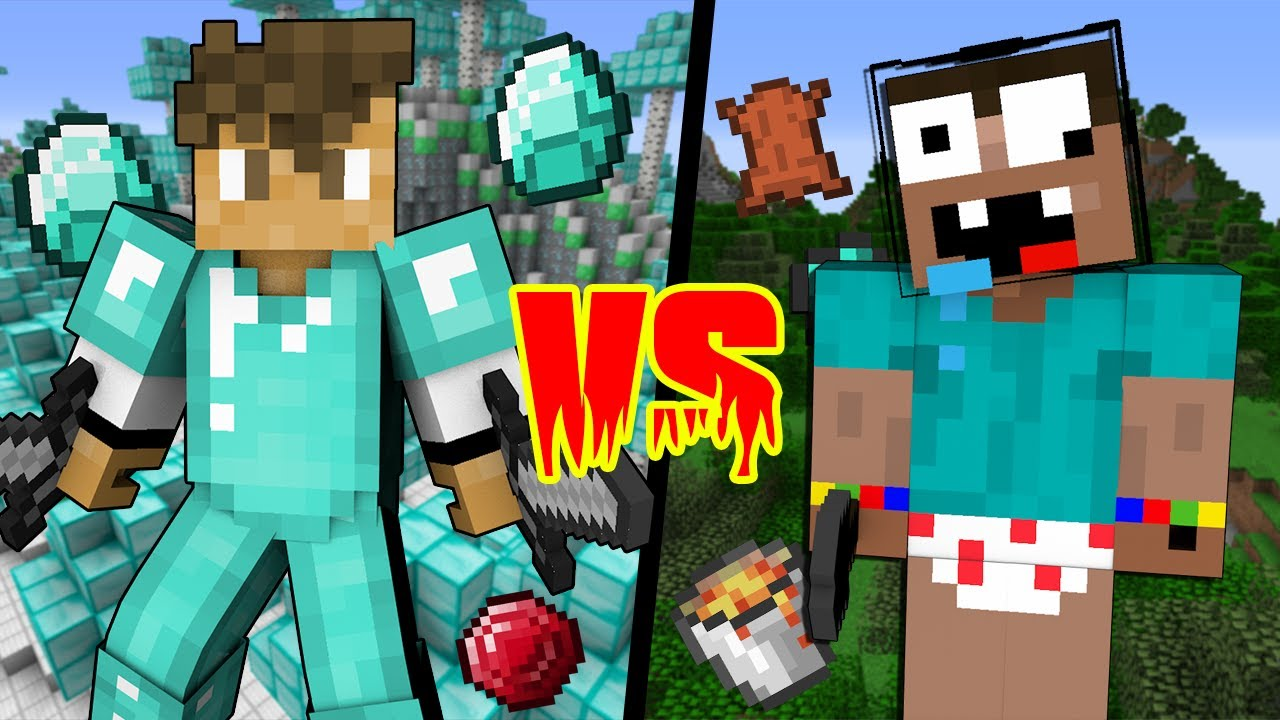 Stupid Noob Vs Legendary Pro Minecraft Machinima