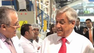 Presidente Piñera visita a trabajadores beneficiados con la Bolsa Nacional de Empleo