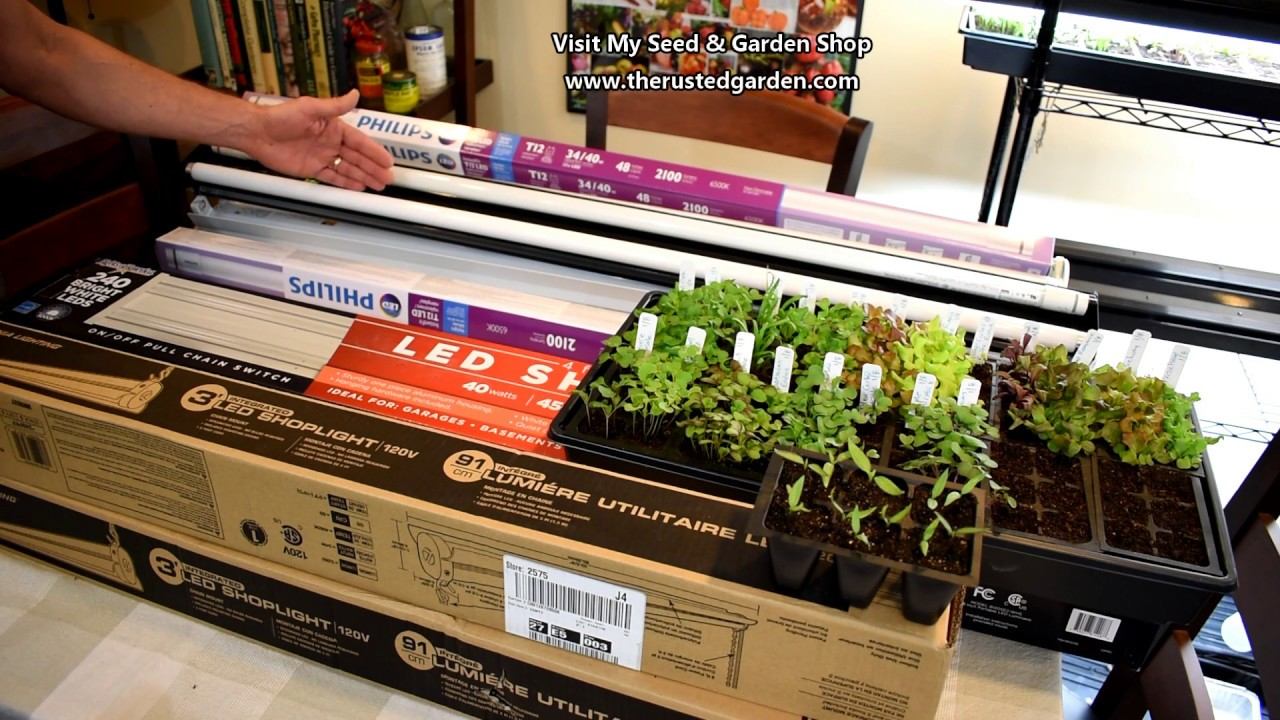 how to find use inexpensive led grow light tubes replace fluorescent bulbs reuse fixtures [ 1280 x 720 Pixel ]
