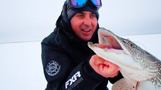Paul's first time ice fishing for Pike!