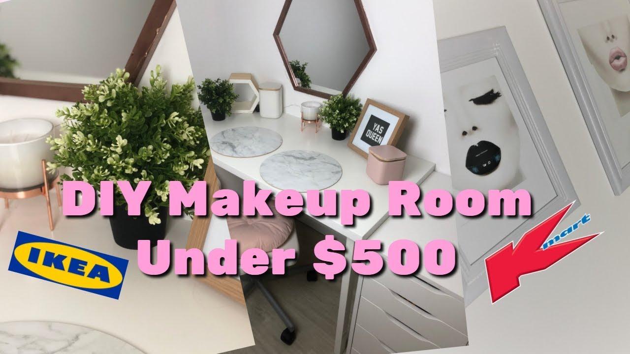 COMPLETE Makeup Room From Ikea u0026 Kmart