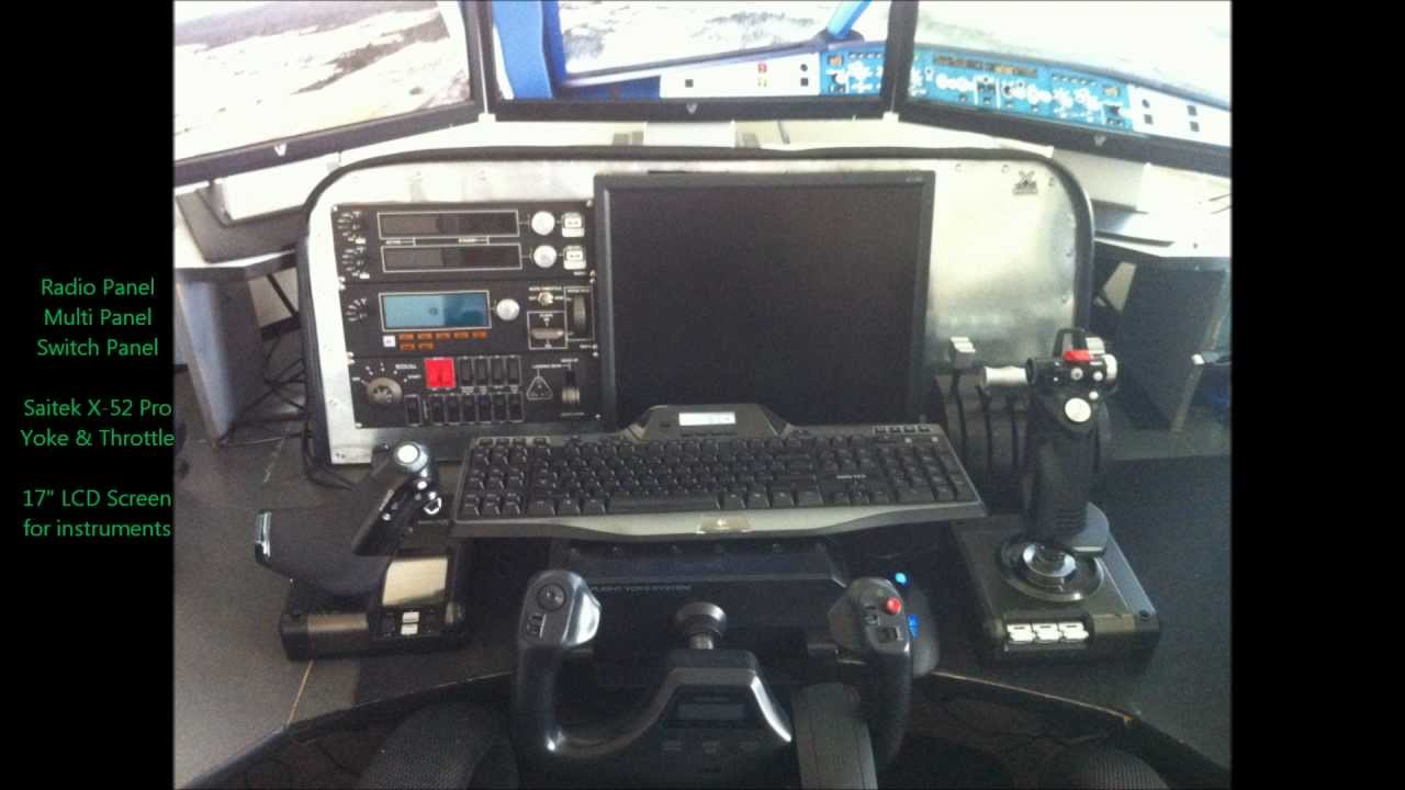 Home flight simulator helicopter controls pictures.