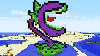Minecraft Plants vs. Zombies 2 Mod MEGA CHOMPER Plant On Lily Pad Showcase!