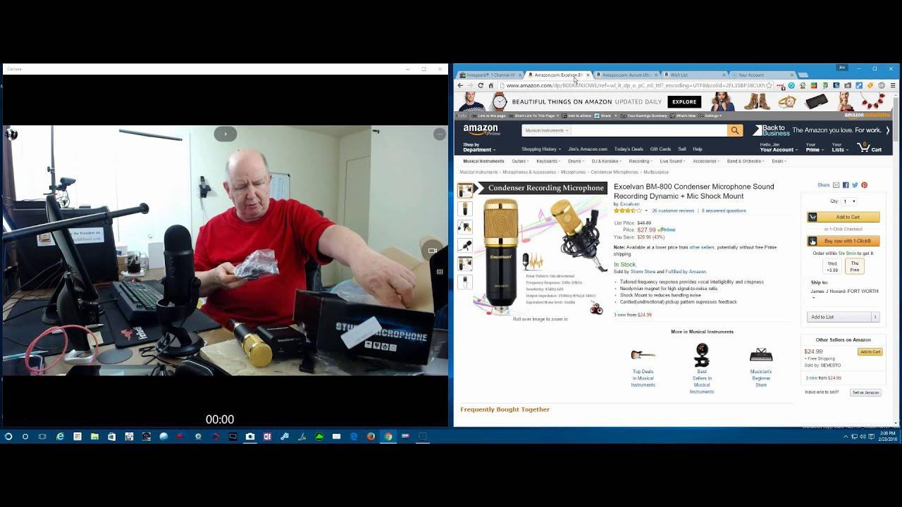 blue yeti usb microphone vs bm 800 condenser microphone youtube. Black Bedroom Furniture Sets. Home Design Ideas