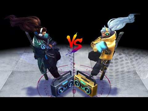 True Damage Yasuo vs Prestige True Damage Yasuo Skins Comparison (League of Legends)