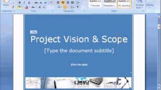 Project Vision and Scope Document
