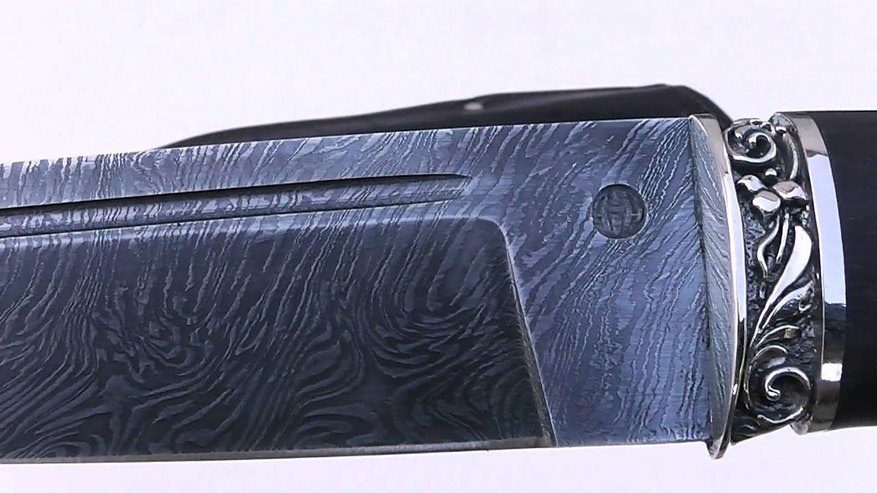 нож Енот из дамасской стали