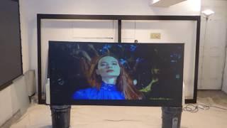 NEW luminous ALR Eclipse cinema spray on OLED TV like projection screen paint!  10/05/18