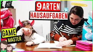 GAME MASTER Challenge 📚 9 Arten Hausaufgaben zu machen 😱 Alles Ava