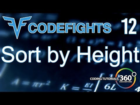 Sort By Height | CodeFights Intro Algorithm JavaScript Solution and Breakdown