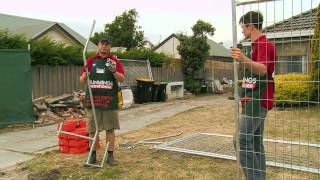 How To Erect Temporary Fencing - Diy At Bunnings