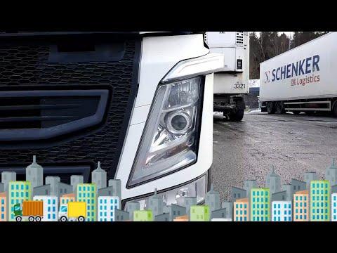 Driving truck &trailer thru Stockholm, 24 meter combo (Volvo FH 460)
