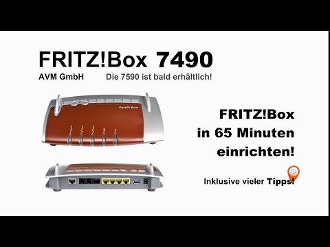FRITZ! Box 7490 einrichten IP Telefonie Fax NAS VPN Portfreigabe Telekom DECT WLAN Repeater Reset