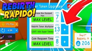 HOW TO EARN ENOUGH REBIRTHS AND FAST TOKENS IN MAGNET SIMULATOR! -ROBLOX
