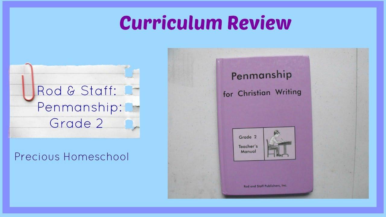 Workbooks rod and staff workbooks : Curriculum Review: Rod & Staff: Penmanship grade 2 - YouTube