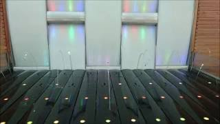 Wasserspiel im Solarium
