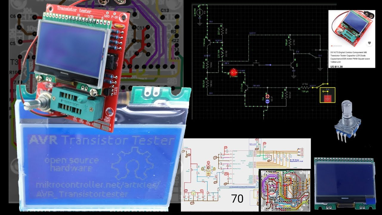Board Wiring Diagram Motion On In Circuit Transistor Tester Schematic
