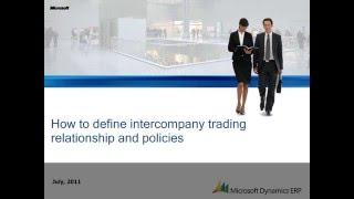 Microsoft Dynamics AX: Comment Définir le commerce Interentreprises Relation et Politiques