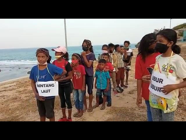 Belajar di Pantai bersama Rumah Belajar Amin #short