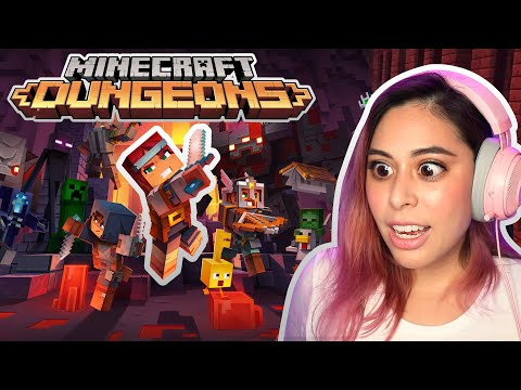 Reacting to the NEW Minecraft Dungeons and Minecraft Earth!