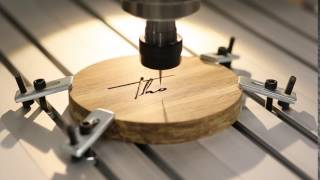 Best Wireless Speakers CNC logo engraving in Bamboo