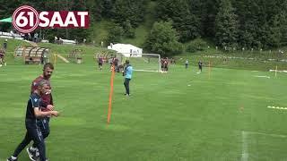Trabzonsporlu oyuncuların sprint antrenmanı....