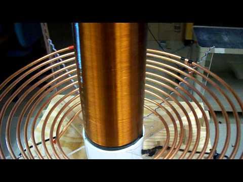 Rotary Spark Gap Tesla Coil - YouTube