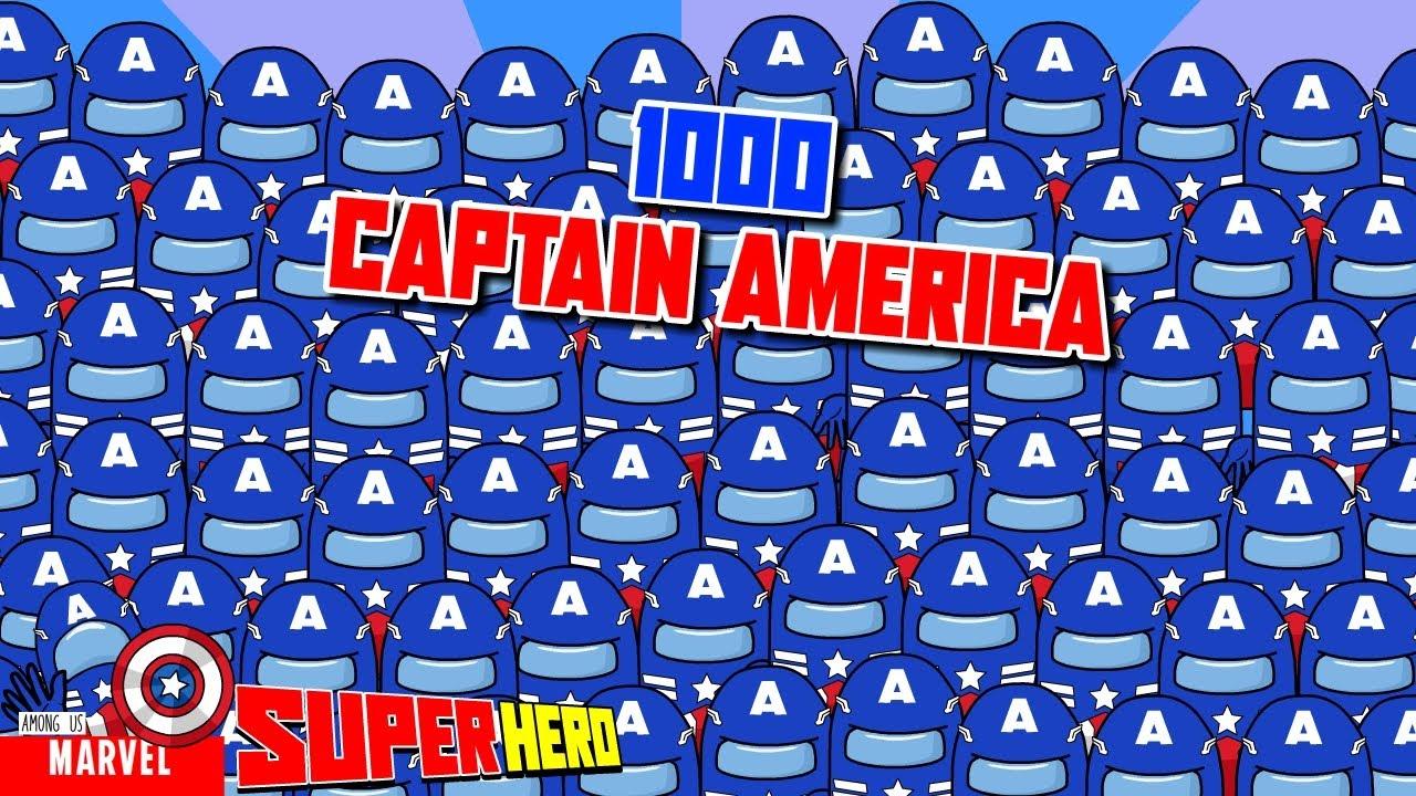 1000 Among Us Captain America - Poisoned By Venom - Among Us marvel