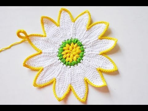 Häkeln Topflappen Margarite Und Sonnenblume Youtube