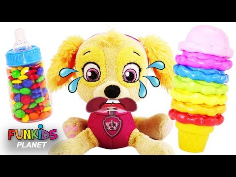 Paw Patrol Skye with Mickey Mouse Magic Ice Cream Transform Fun Toys  | Learn Colors & Numbers!