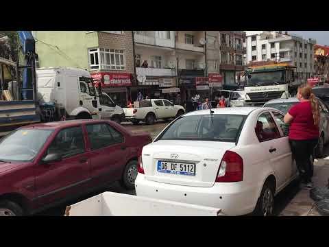 Ankara Mamak sel Görüntüleri 160 araç ve iş yeri hasarı