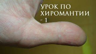 1. Урок по хиромантии. Большой палец