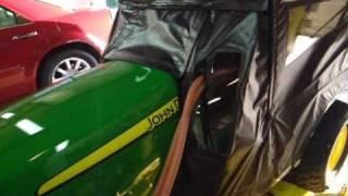 John Deere X748 soft cab and custom heater