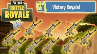 Fortnite Solid Gold! *NEW* UNLIMITED GOLD SCARS GAME MODE! Fortnite Battle Royale Duo Squads Win