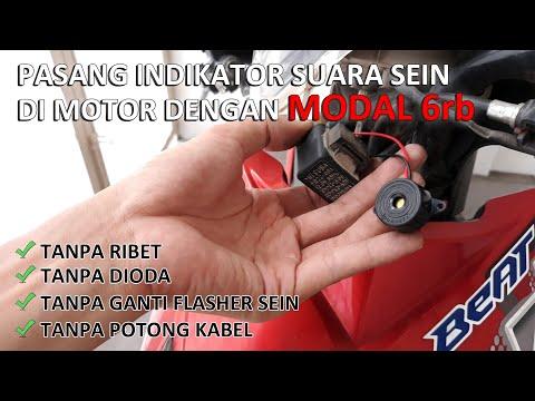 Pasang Indikator Suara Sein Motor Modal 6rb Tanpa Dioda Tanpa Ganti Flasher Tanpa Potong Kabel