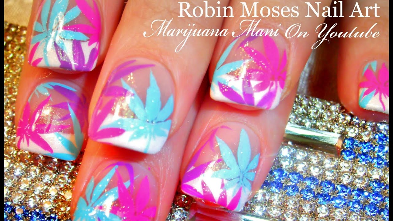 Diy Marijuana Manicure Nail Art Tutorial Coachella Pastel Pot