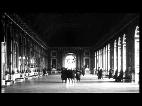View of the Palace of Versailles and Hall of Mirrors at Versailles in France. HD Stock Footage