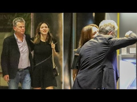 Katharine McPhee Lays A Kiss On Legendary Producer David Foster