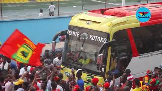 How Asante Kotoko's bus triumphantly left Accra Sports Stadium