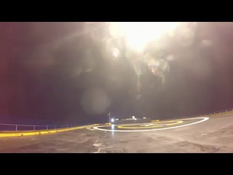 Three Camera Angles | Falcon 9 First Stage Landing on Droneship