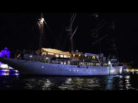 Willemstad, Curaçao - Sea Cloud Departs Willemstad HD (2016)