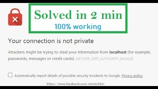 Your connection is not private    Problem on .dev domain    reason and simple solution in 2 min