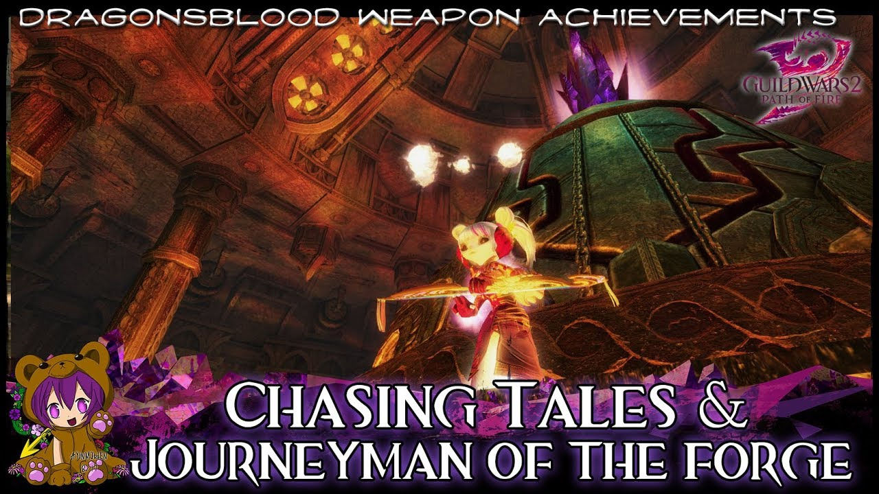 GW2 - Journeyman of the Forge & Chasing Tales achievements by AyinMaiden