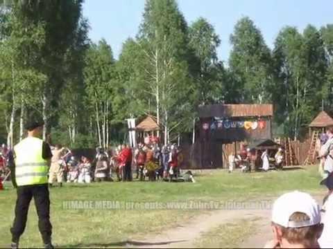 Rekonstrukcja bitwy z czasów wielkiej wojny z Zakonem Krzyżackim.