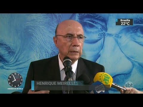 Ministro Henrique Meirelles se filia ao MDB em clima de campanha   SBT Brasil (03/04/18)