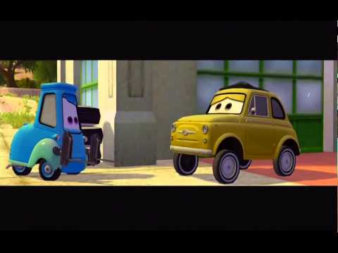 CARS movie characters   Luigi & Guido   2 best friends from McQueen & Mater cut from full gameplay