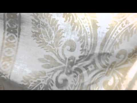 """Vervain """"Chapelle"""" Soft Gold 56"""" Wide Home Decor Fabric"""