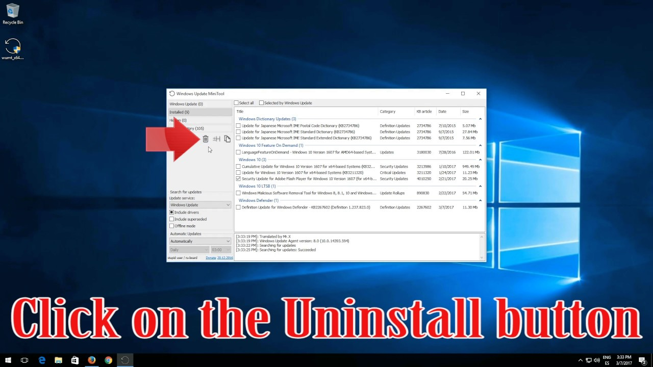 How to Uninstall Updates in Windows 10