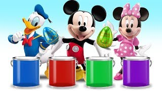 Learn Colors with Surprise Eggs & Mickey Minne Donald Goofy  - Video For Kids