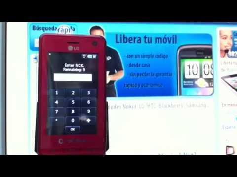 Liberar LG KU990 Viewty, desbloquear LG KU990 de Vodafone ...